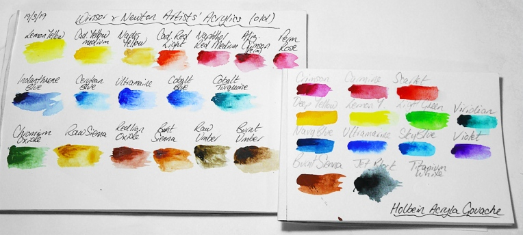 Colour-charts-compared-Holbein-WN-acrylics